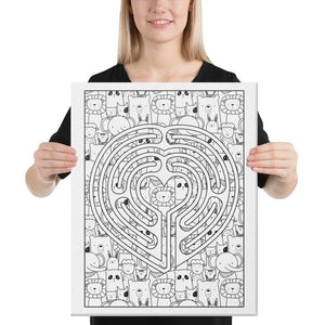 Color Me Chilled Canvas Prints 16×20 Heart Animal Labyrinth