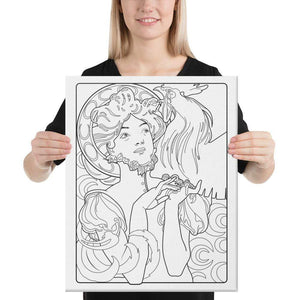 Color Me Chilled Canvas Prints 16×20 Mucha - Cocorico Magazine