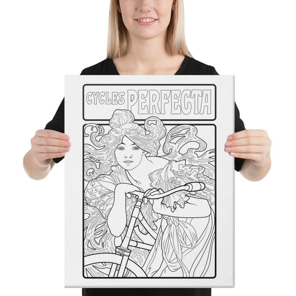 Color Me Chilled Canvas Prints 16×20 Mucha - Cycles Perfecta