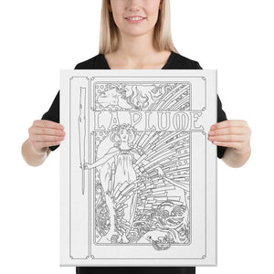 Color Me Chilled Canvas Prints 16×20 Mucha - La Plume