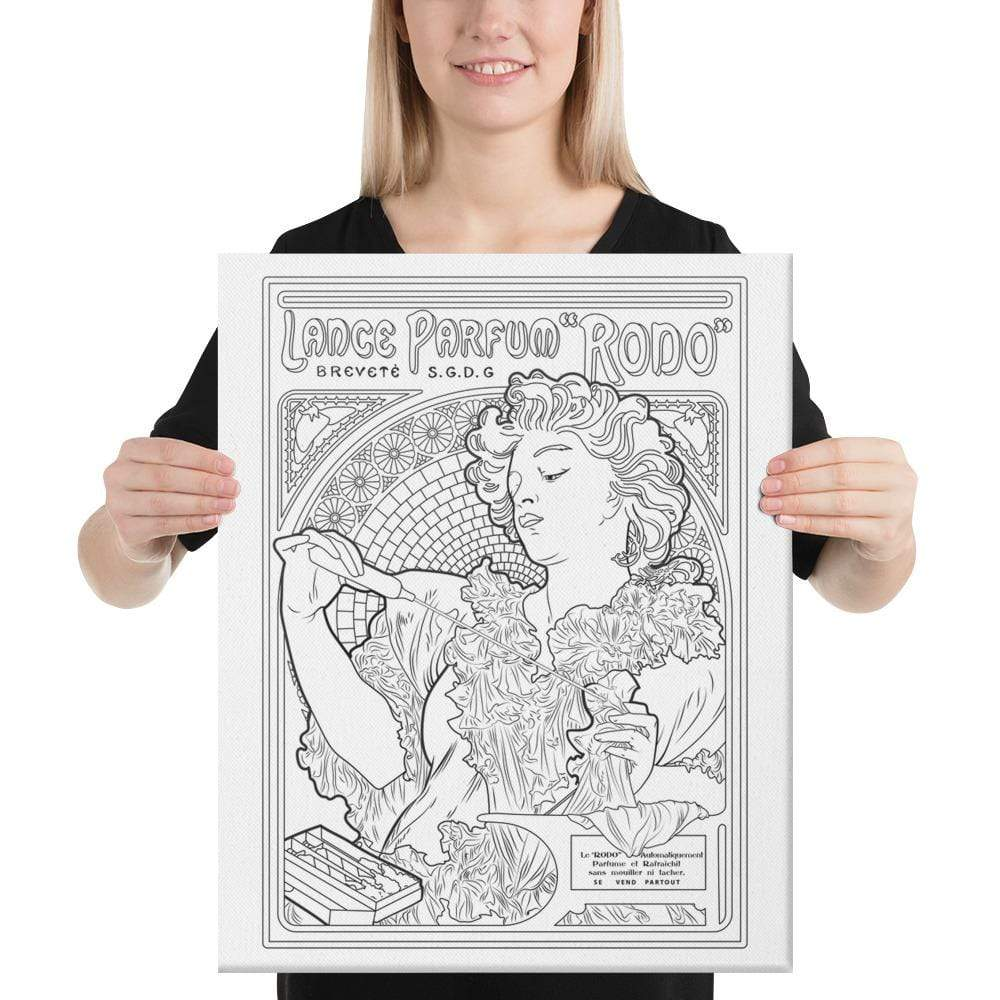 "Color Me Chilled Canvas Prints 16×20 Mucha - Lance Parfum ""Rodo"""