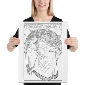 Color Me Chilled Canvas Prints 16×20 Mucha - Princess Hyacinth