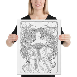 Color Me Chilled Canvas Prints 16×20 Mucha - Reverie