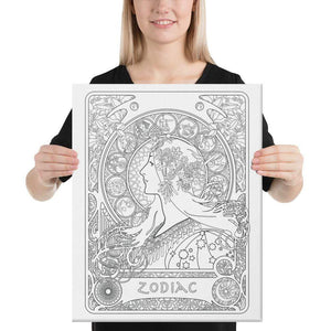 Color Me Chilled Canvas Prints 16×20 Mucha - Zodiac