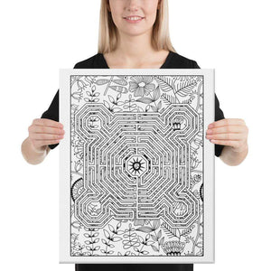 Color Me Chilled Canvas Prints 16×20 Reims Spring Floral Labyrinth