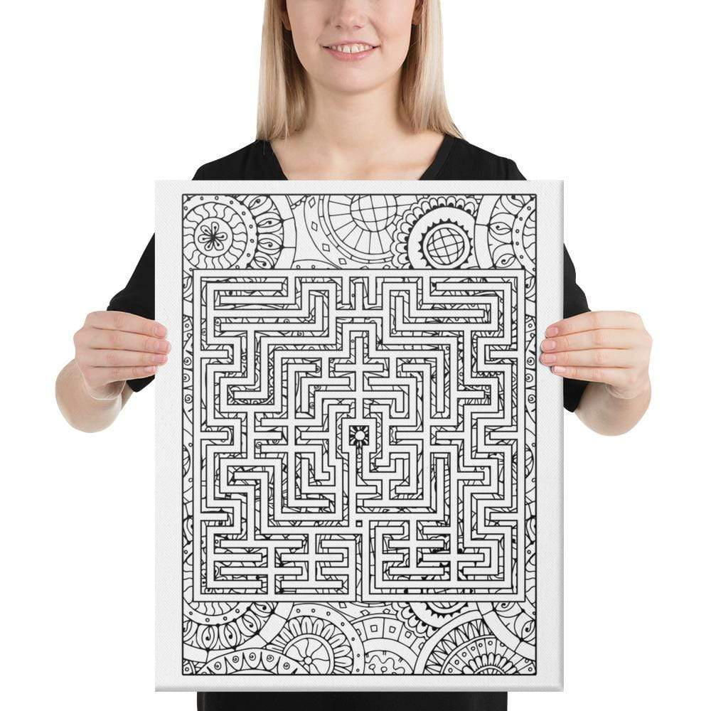 Color Me Chilled Canvas Prints 18×24 St Omer Boho Labyrinth