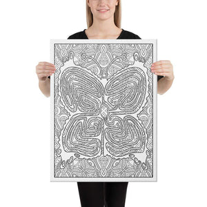 Color Me Chilled Canvas Prints 18×24 Butterfly Mandala Labyrinth