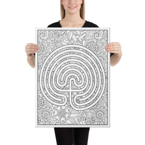Color Me Chilled Canvas Prints 18×24 Classical Abstract Floral Labyrinth