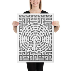 Color Me Chilled Canvas Prints 18×24 Classical Geometric Labyrinth