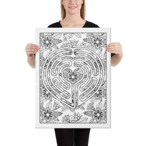 Color Me Chilled Canvas Prints 18×24 Heart Floral Labyrinth