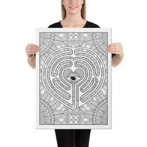 Color Me Chilled Canvas Prints 18×24 Heart Mind's Eye Labyrinth