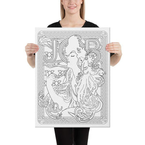 Color Me Chilled Canvas Prints 18×24 Mucha - Job 1897