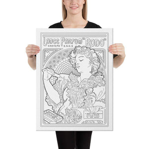 "Color Me Chilled Canvas Prints 18×24 Mucha - Lance Parfum ""Rodo"""