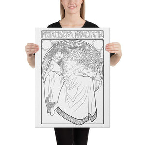 Color Me Chilled Canvas Prints 18×24 Mucha - Princess Hyacinth
