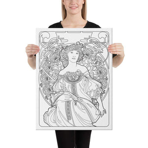 Color Me Chilled Canvas Prints 18×24 Mucha - Reverie