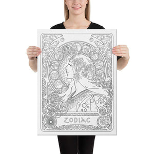 Color Me Chilled Canvas Prints 18×24 Mucha - Zodiac