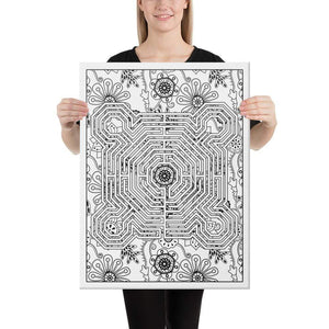 Color Me Chilled Canvas Prints 18×24 Reims Boho Floral Labyrinth