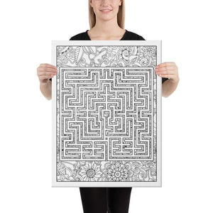 Color Me Chilled Canvas Prints 18×24 St. Omer Floral Labyrinth