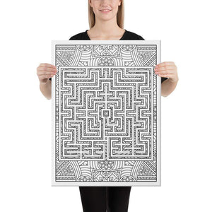 Color Me Chilled Canvas Prints 18×24 St Omer Mandala Labyrinth
