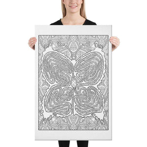 Color Me Chilled Canvas Prints 24×36 Butterfly Mandala Labyrinth
