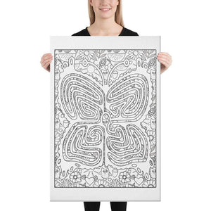 Color Me Chilled Canvas Prints 24×36 Butterfly Summer Labyrinth