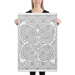 Color Me Chilled Canvas Prints 24×36 Butterfly Sun Labyrinth