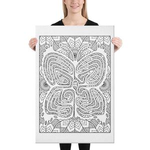 Color Me Chilled Canvas Prints 24×36 Butterfly Sunflower Labyrinth