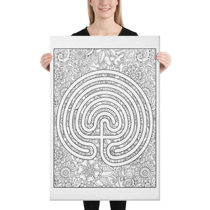 Color Me Chilled Canvas Prints 24×36 Classical Abstract Floral Labyrinth