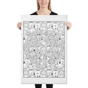 Color Me Chilled Canvas Prints 24×36 Heart Animal Labyrinth