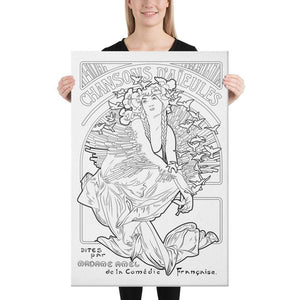 Color Me Chilled Canvas Prints 24×36 Mucha - Chansons D'Aieules