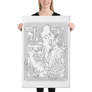 Color Me Chilled Canvas Prints 24×36 Mucha - Job 1897
