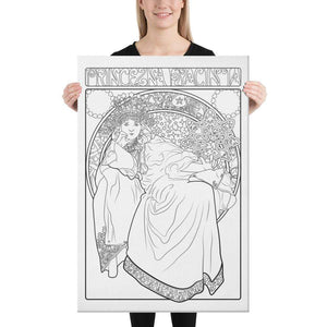 Color Me Chilled Canvas Prints 24×36 Mucha - Princess Hyacinth