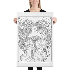 Color Me Chilled Canvas Prints 24×36 Mucha - Reverie