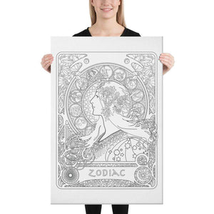Color Me Chilled Canvas Prints 24×36 Mucha - Zodiac