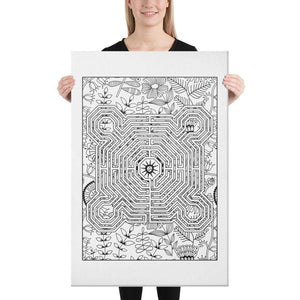 Color Me Chilled Canvas Prints 24×36 Reims Spring Floral Labyrinth