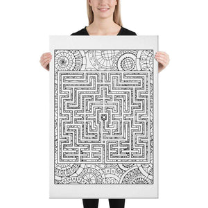 Color Me Chilled Canvas Prints 24×36 St Omer Boho Labyrinth