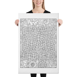 Color Me Chilled Canvas Prints 24×36 St. Omer Floral Labyrinth