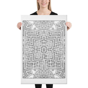 Color Me Chilled Canvas Prints 24×36 St Omer Sunflower Labyrinth