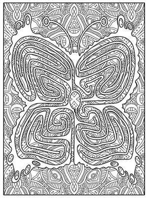 Color Me Chilled Canvas Prints Butterfly Mandala Labyrinth