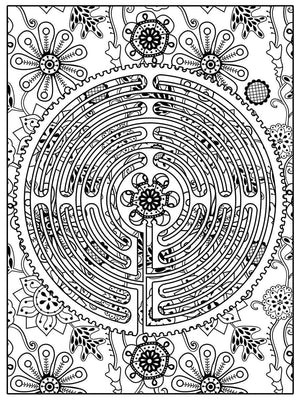 Color Me Chilled Canvas Prints Chartres Floral Labyrinth