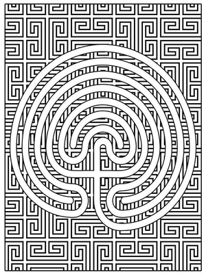 Color Me Chilled Canvas Prints Classical Geometric Labyrinth