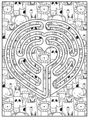 Color Me Chilled Canvas Prints Heart Animal Labyrinth