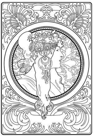 Color Me Chilled Canvas Prints Mucha - Donna Orechini
