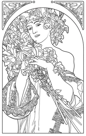 Color Me Chilled Canvas Prints Mucha - Flower
