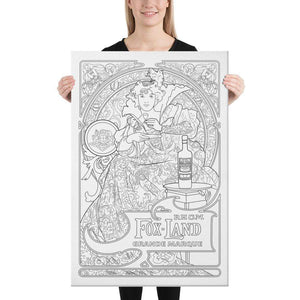 Color Me Chilled Canvas Prints Mucha -  Fox Land Rhum