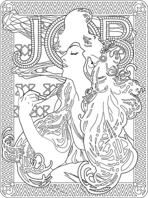 Color Me Chilled Canvas Prints Mucha - Job 1897