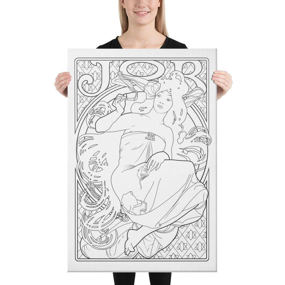 Color Me Chilled Canvas Prints Mucha - Job 1898