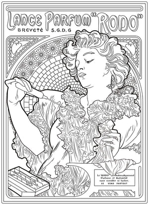 "Color Me Chilled Canvas Prints Mucha - Lance Parfum ""Rodo"""