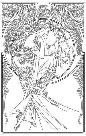 Color Me Chilled Canvas Prints Mucha - Poetry