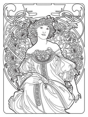 Color Me Chilled Canvas Prints Mucha - Reverie